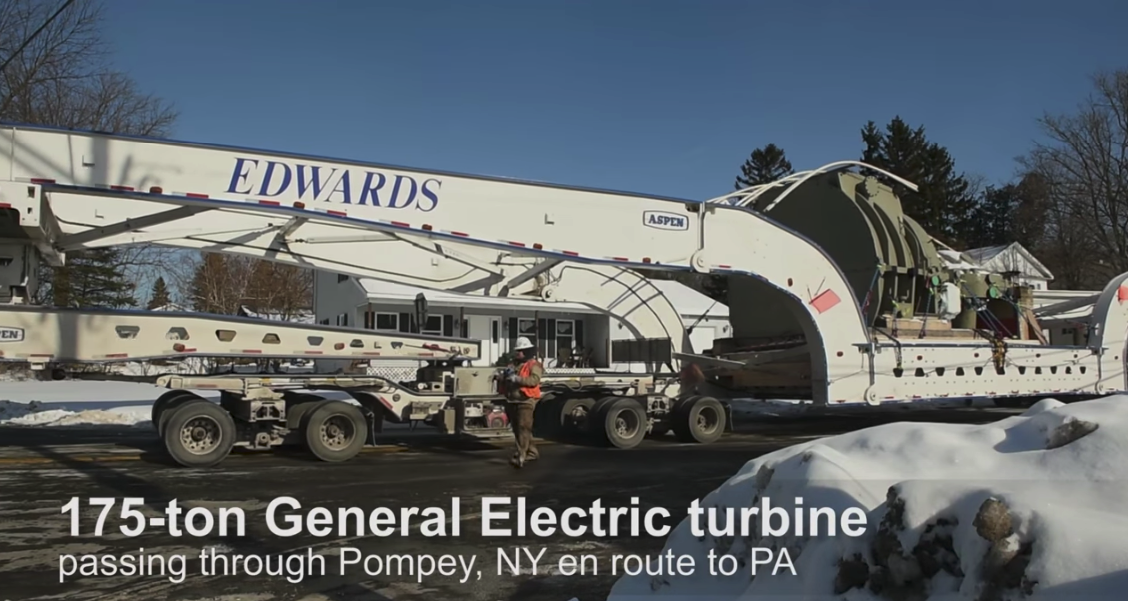 Moving a 175-Ton General Electric Turbine 300+ Miles