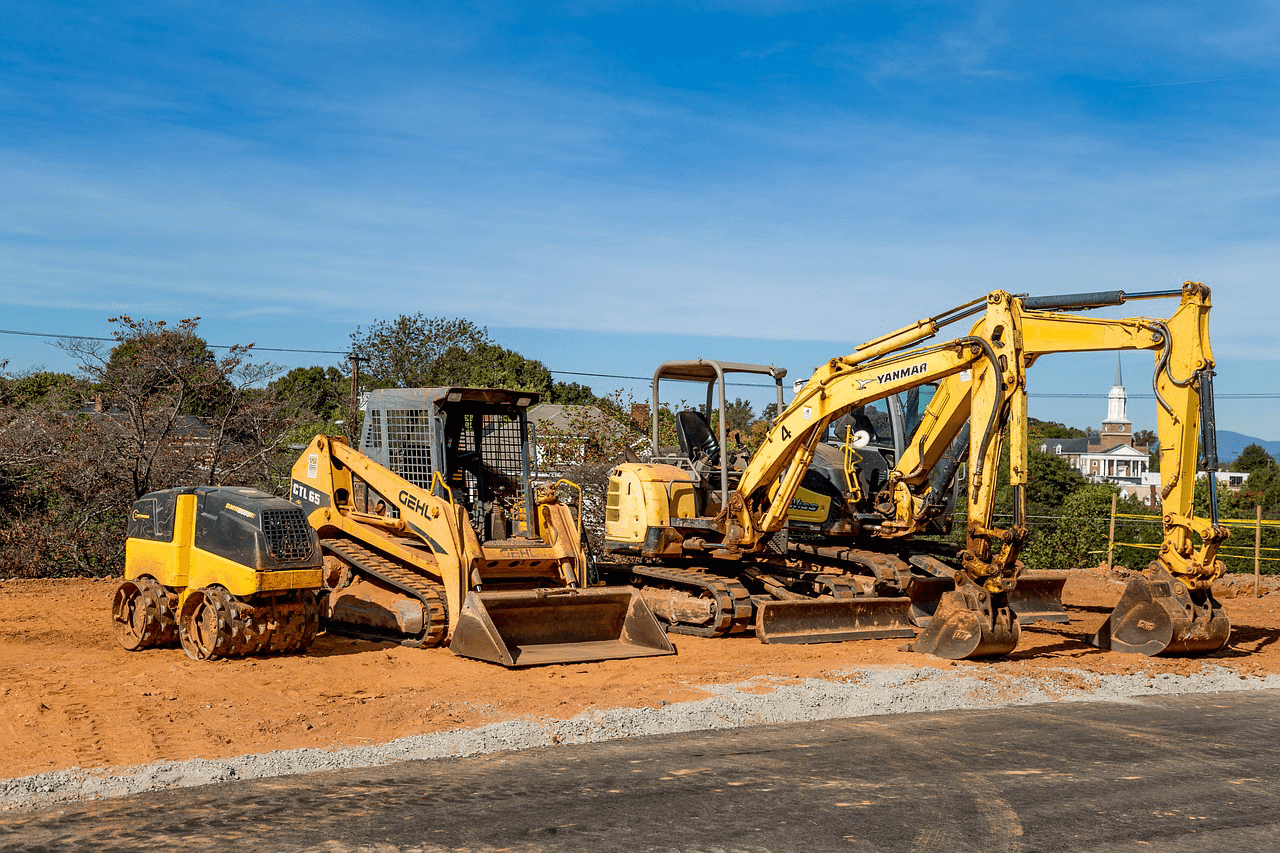 A sample of construction equipment that can be shipped with FR8Star