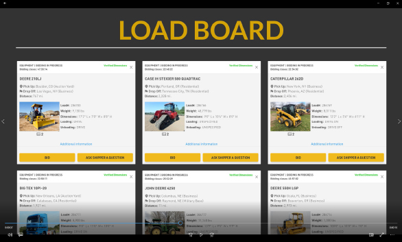 Viewing leads on FR8Star's load board