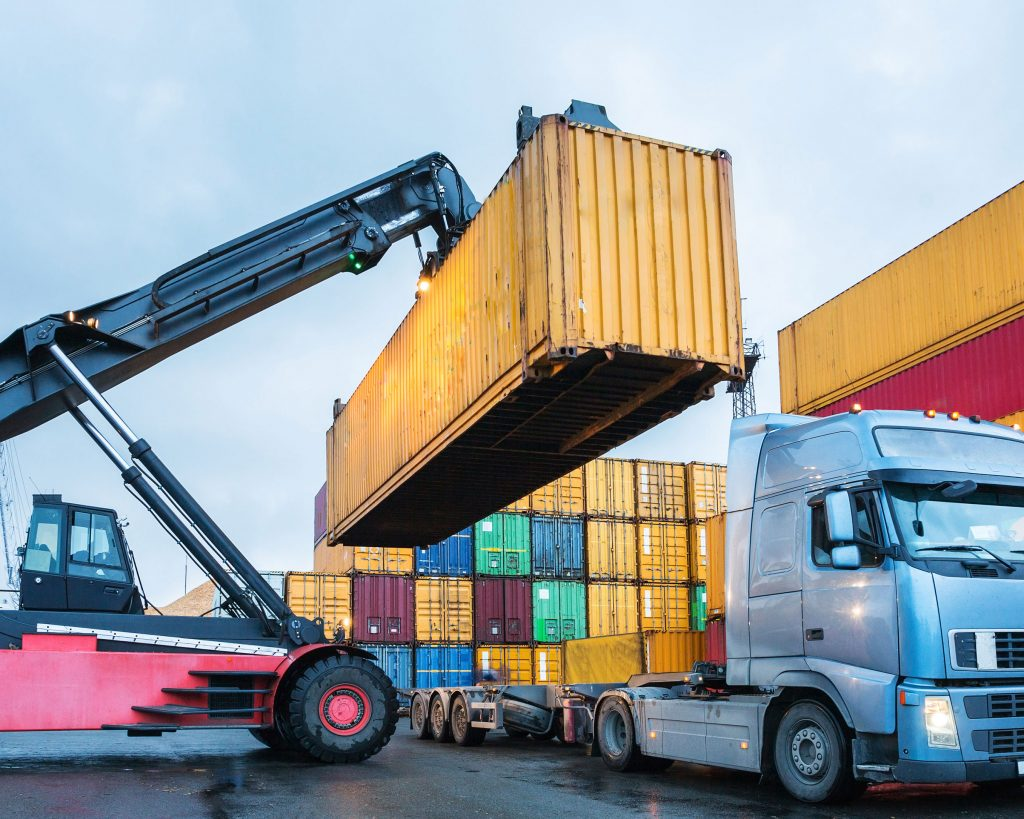 Loading a container for transport
