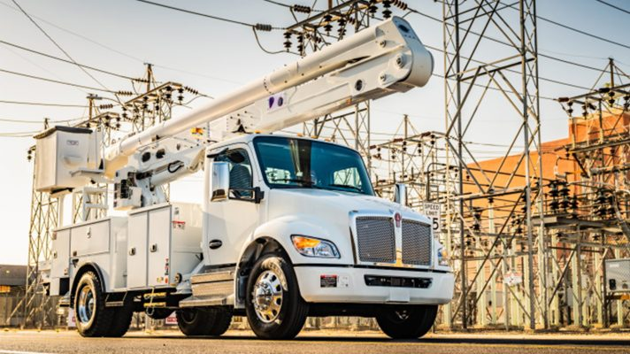 Kenworth's new conventional truck on the job